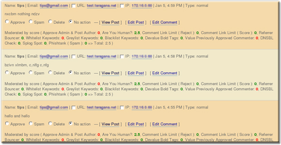 Comment Guard IP & URI Address Display