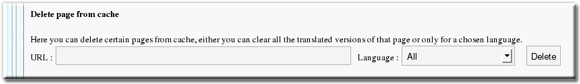 Translator Plugin Gold Clear Cache