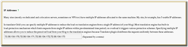 Translator Plugin Gold IP Support
