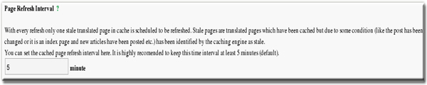 Translator Plugin Pro Page Refresh Interval